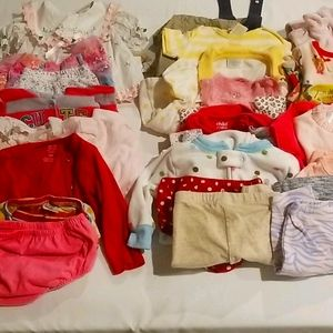 25 Pieces 3-6 Months Baby Clothes